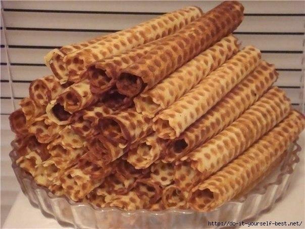 Рецепт вафель электровафельницы трубочки фото